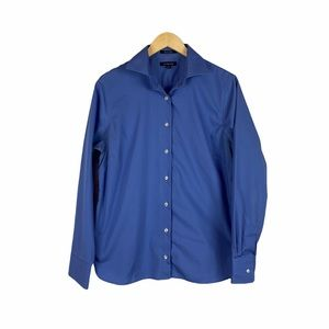 Lands End blue long sleeve blouse